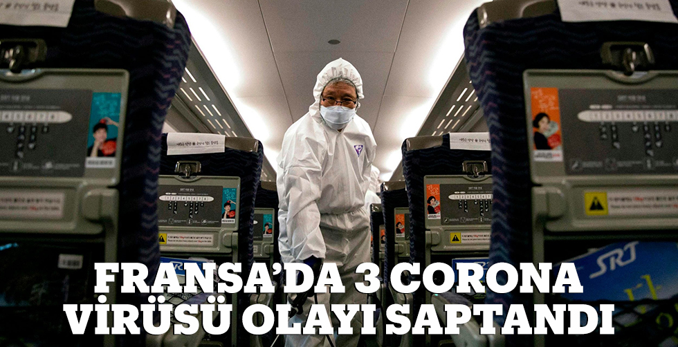 Fransa'da 3 koronavirüs olayı…
