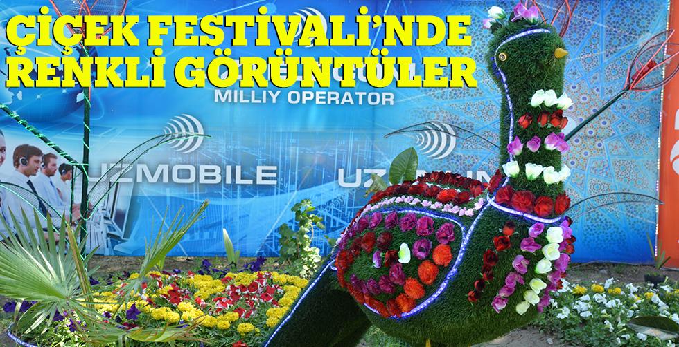Çiçek festivalinde renkli görüntüler