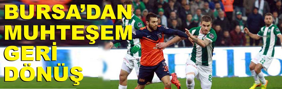 Bursaspor'dan muhteşem geri dönüş:…