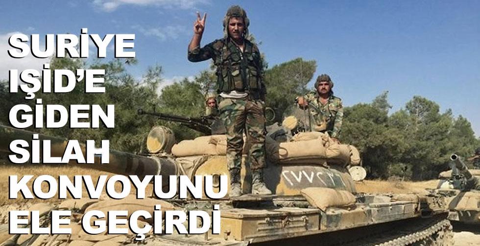 Suriye IŞİD'e giden silah konvoyunu…