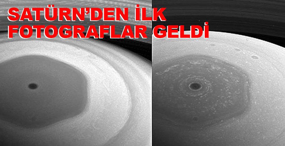 İşte Satürn'den gelen ilk fotograflar
