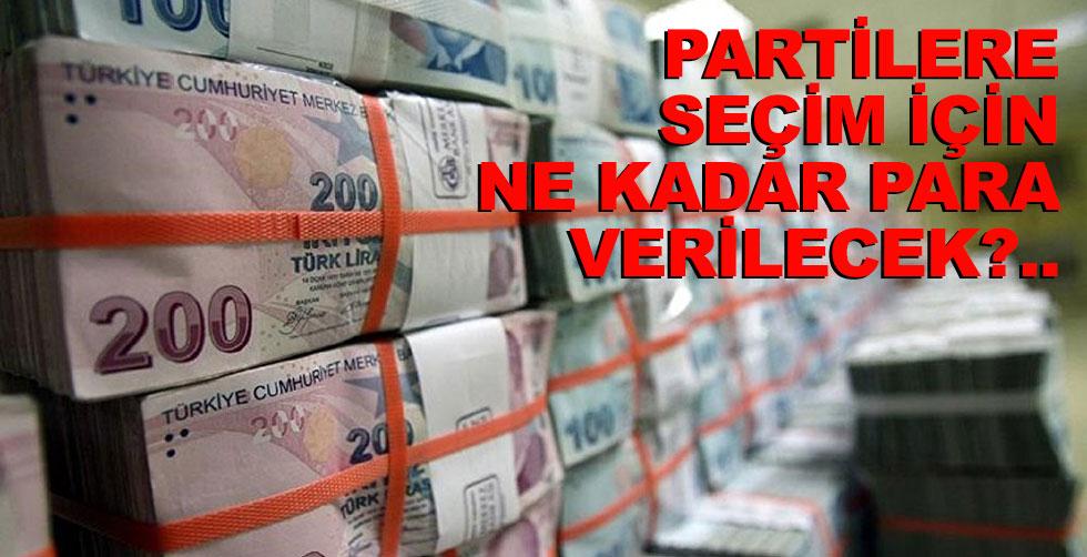 Partilere seçim için ne kadar para…