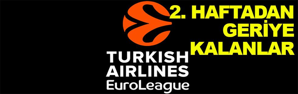 Eurolig'de 2. haftadan geride kalanlar