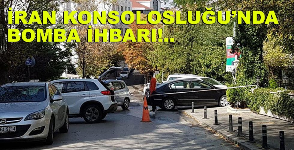 İran Konsolosluğu'nda bomba alarmı!..