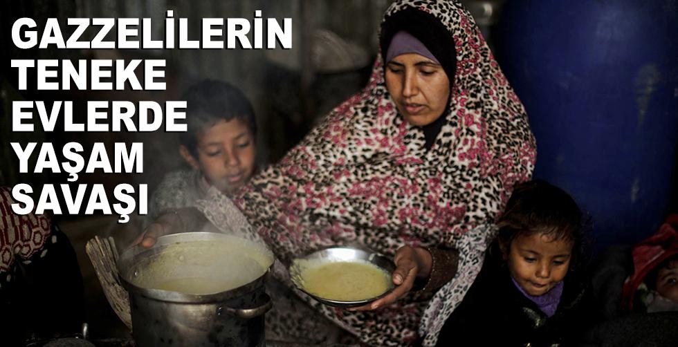 Gazzelilerin küçük teneke evlerdeki…