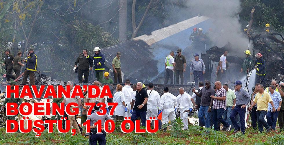 Havana'da uçak düştü: 110 ölü...