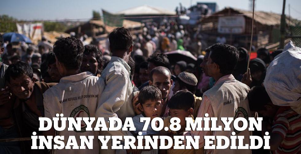 Dünyada 70,8 milyon insan yerinden…