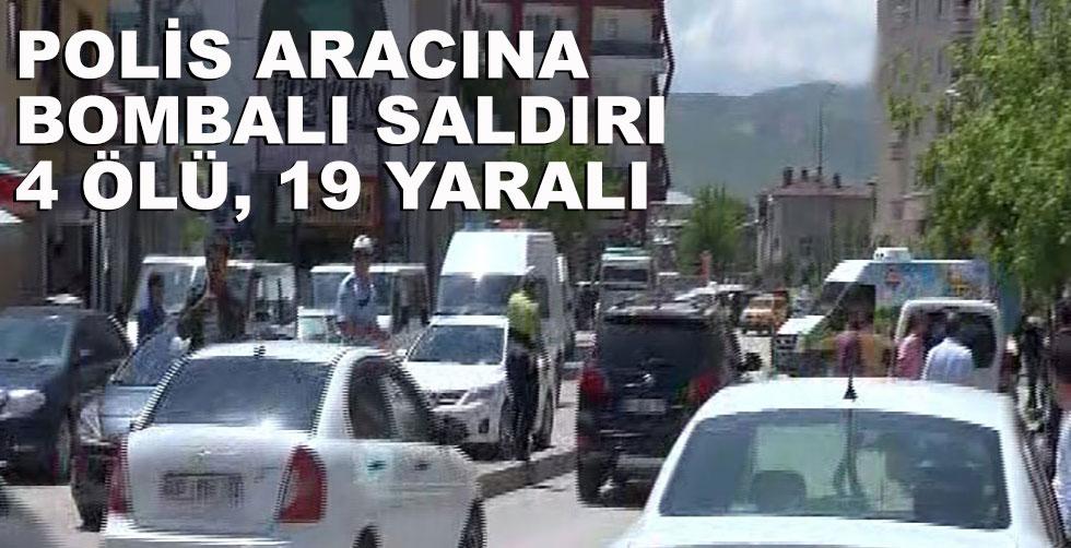 Polis aracına bombalı saldırı:…