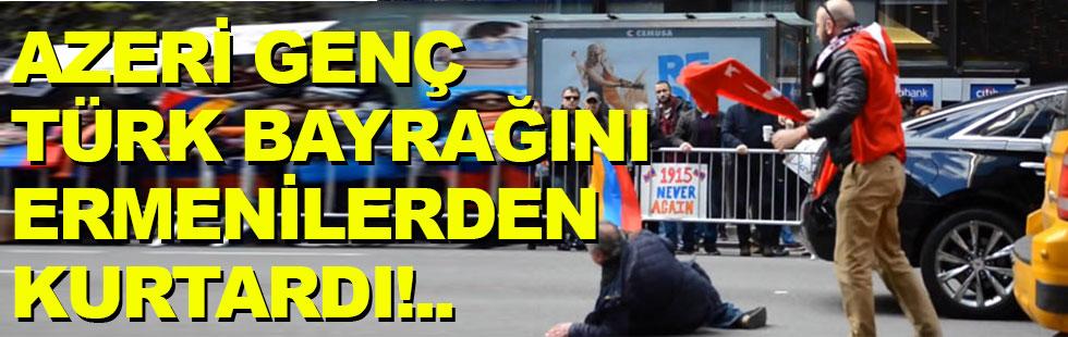 Azeri genç Türk bayrağını Ermenilerden…
