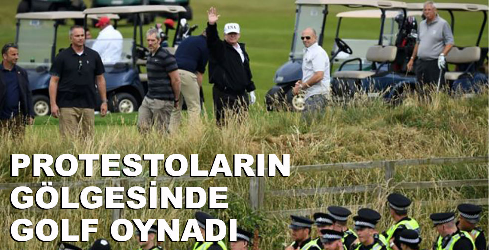 Protestoların gölgesinde golf oynadı!..