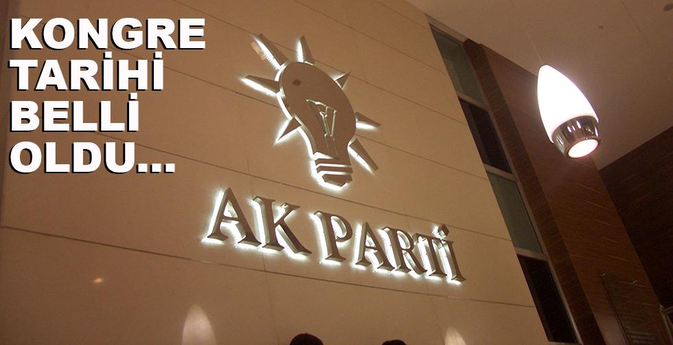 AKP'de kongre tarihi belli oldu
