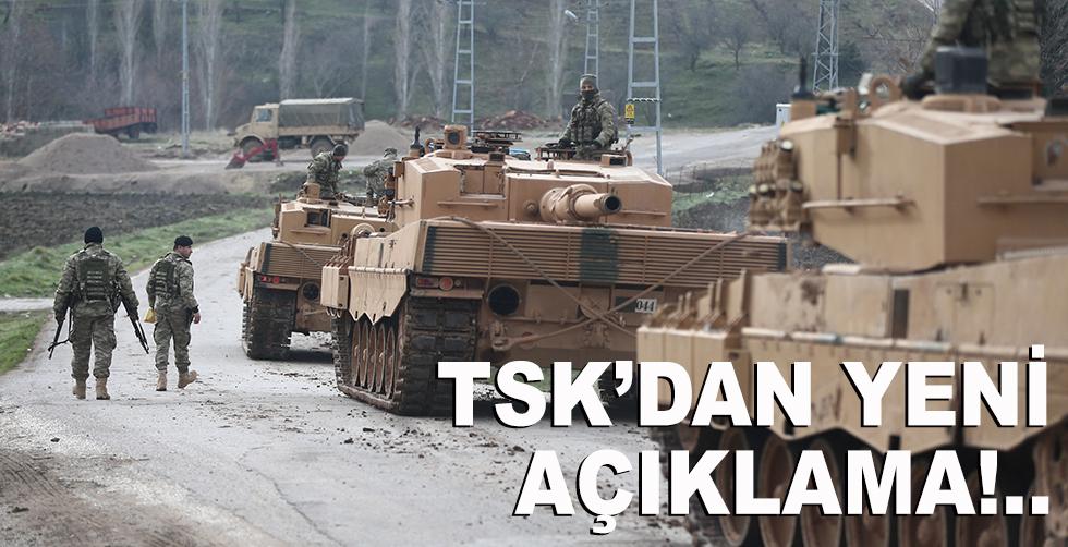 TSK'dan yeni Afrin açıklaması!..