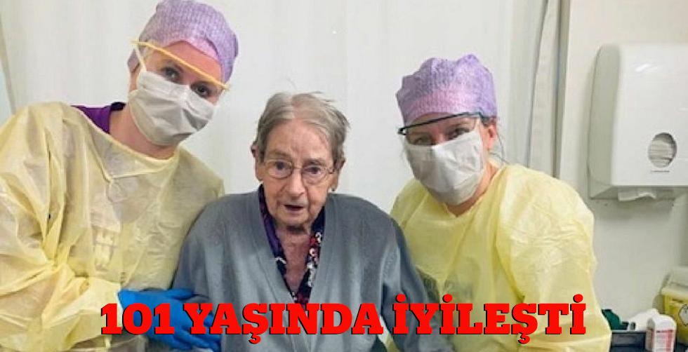 101 yaşındaki Kovid hastası iyşileşti