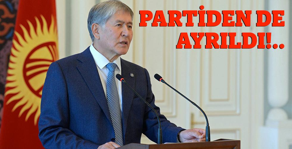 Atambayev parti liderliğinden ayrıldı