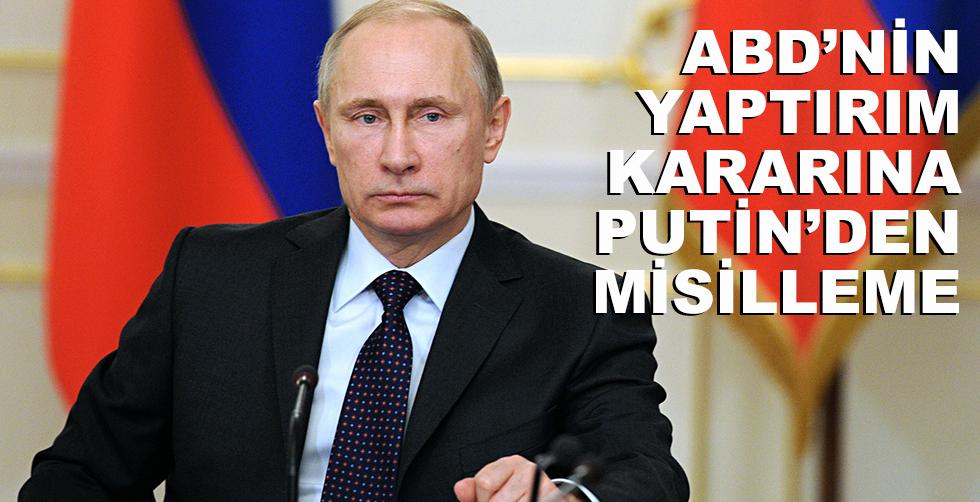 ABD'nin yaptırım kararına Putin'den…
