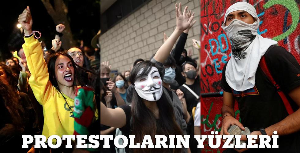Protestoların yüzleri...