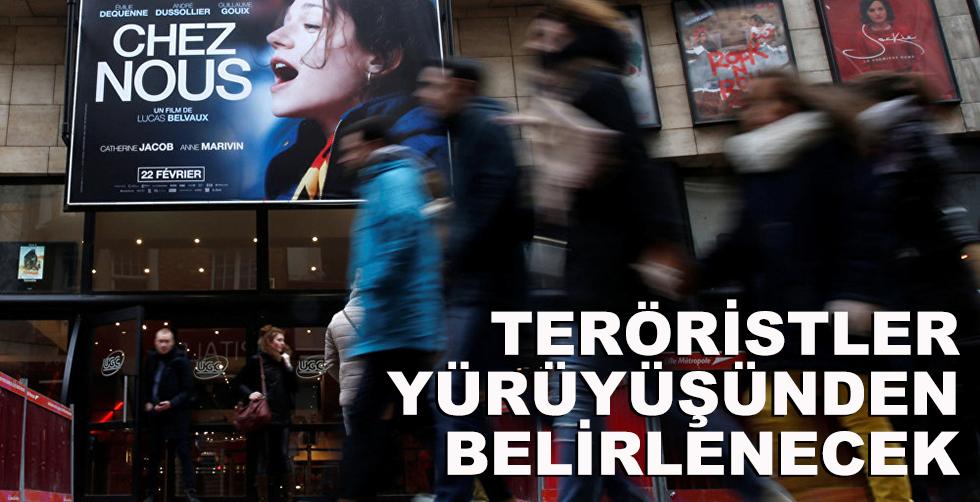 Teröristler yürüyüşünden belirlenecek