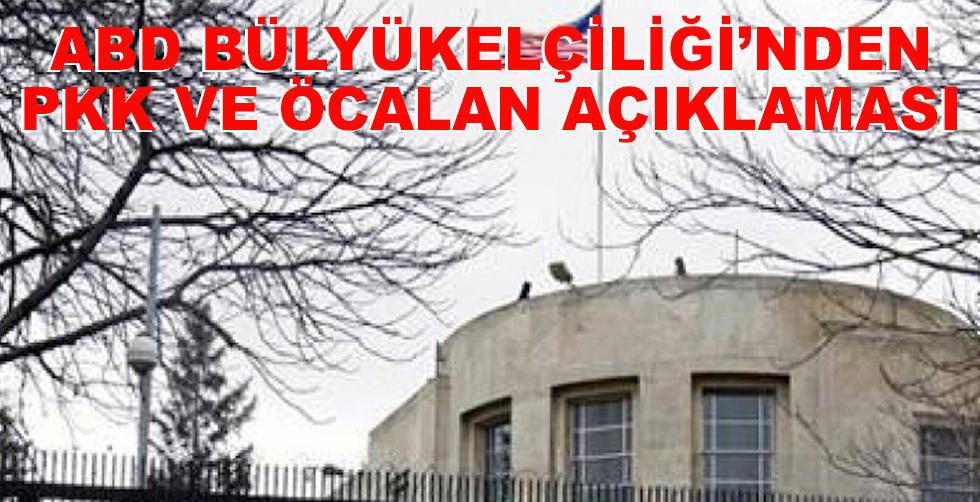ABD Büyükelçiliği'nden PKK…
