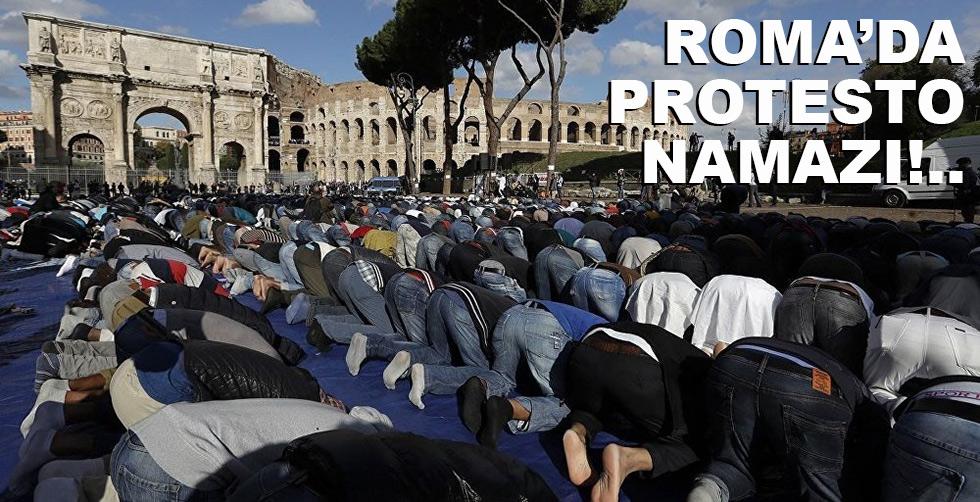 Roma'da toplu protesto namazı!..