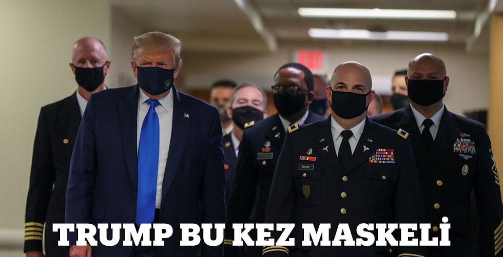 Trump bu kez maskeli!..