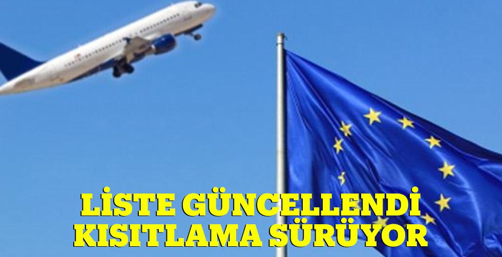 Seyahat listesi güncellendi, Türkiye'ye…
