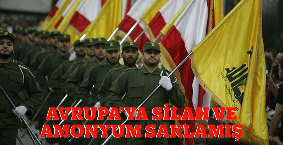Hizbullah Avrupa'ya silah ve amonyum…