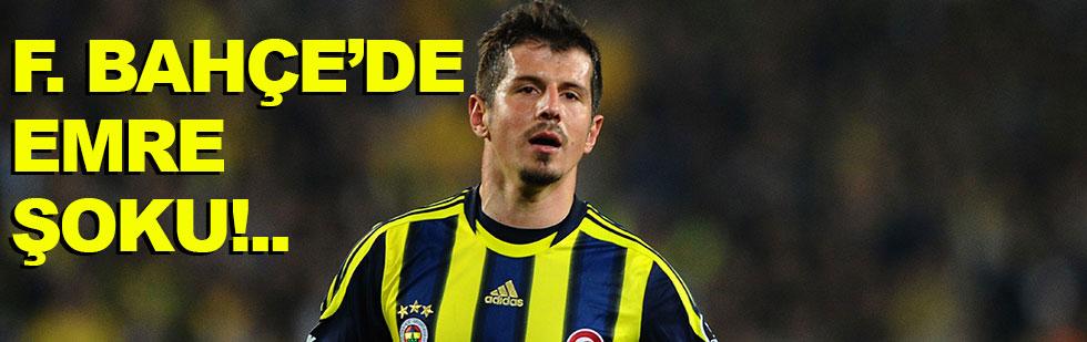 Fenerbahçe'de Emre şoku!..