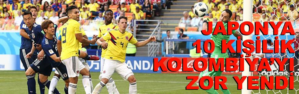 Japonya 10 kişi kalan Kolombiya'yı…