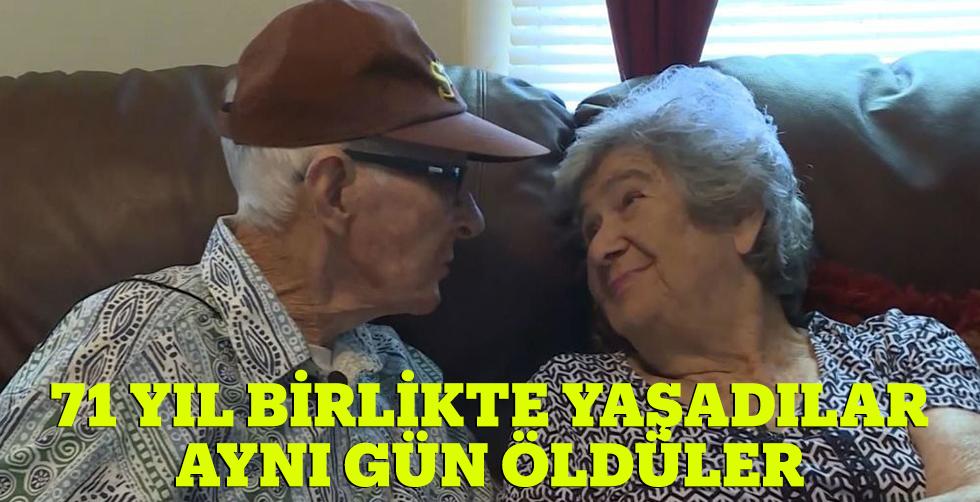 71 yıl birlikte yaşadılar aynı…