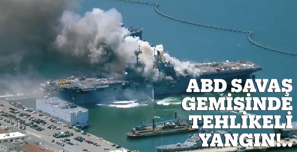 ABD savaş gemisinde tehlikeli yangın
