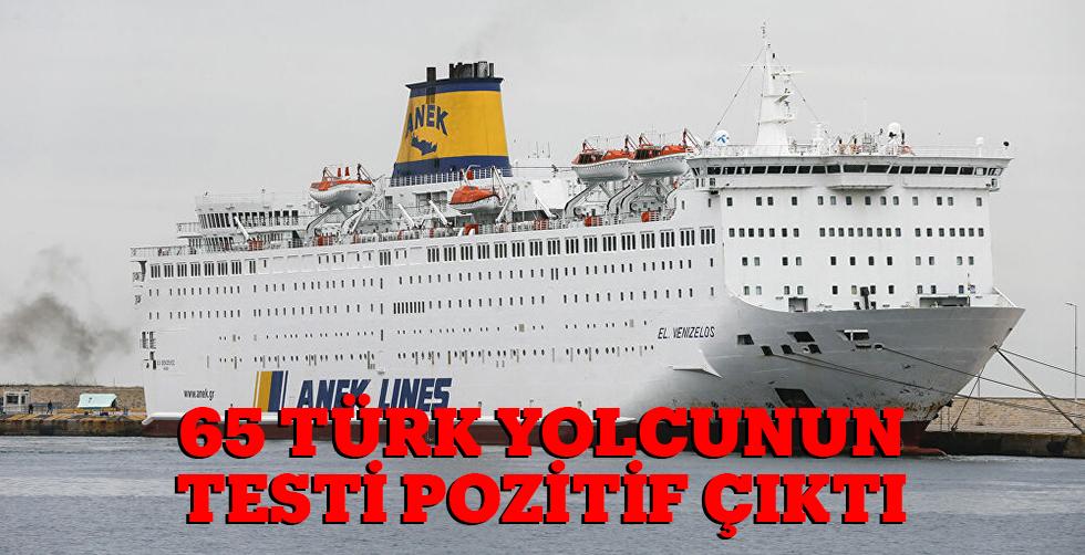 65 Türk yolcunun testi pozitif çıktı