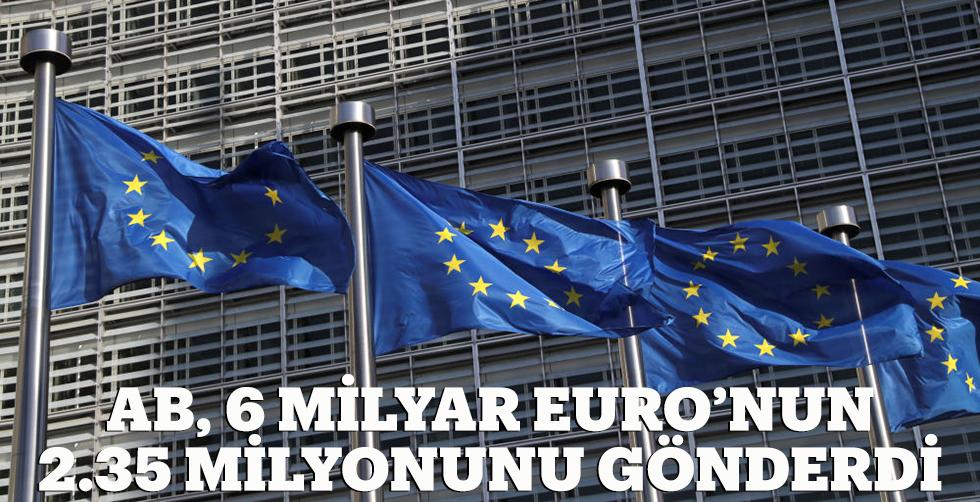 AB, 6 milyar Euro'nun 2.35 milyarını…