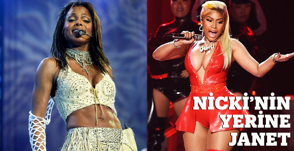 Nicki Minaj'ın yerine Janet Jackson