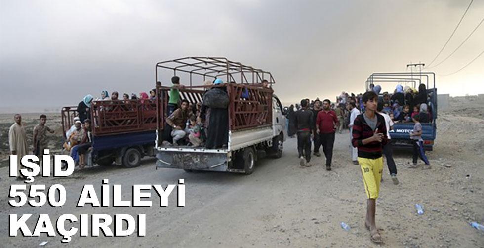 IŞİD 550 aileyi kaçırdı!..
