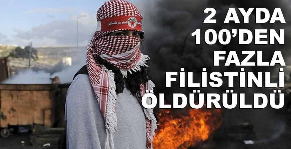 2 ayda 100'den fazla Filistinli…