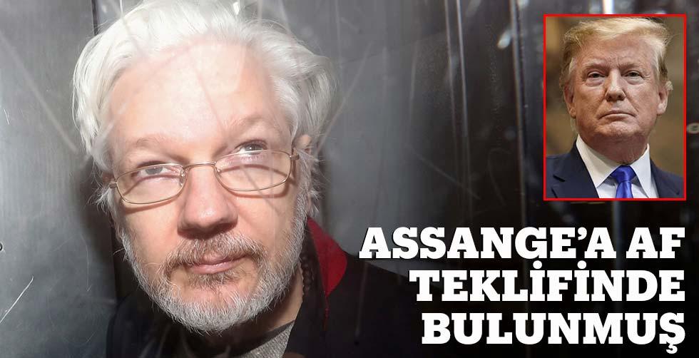 Trump, Assange'a af teklifinde…