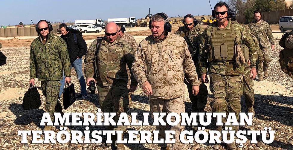 Amerikalı komutan teröristlerle görüştÜ