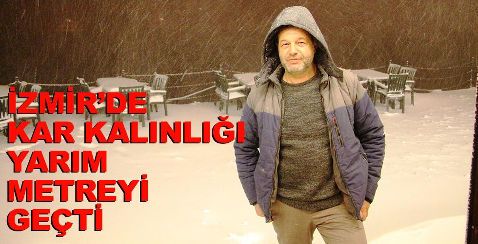 İzmir'de kar kalanlığı 20 metreyi…