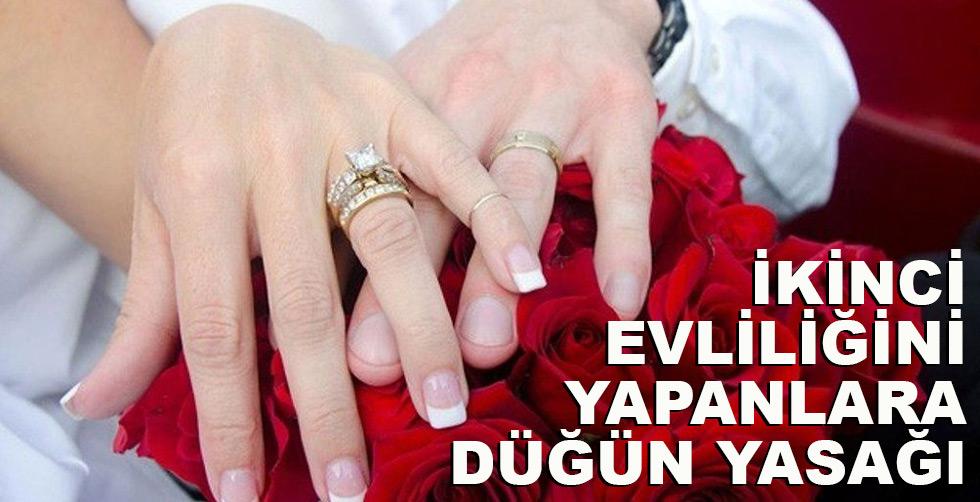 İkinci evliliğini yapanlara düğün…