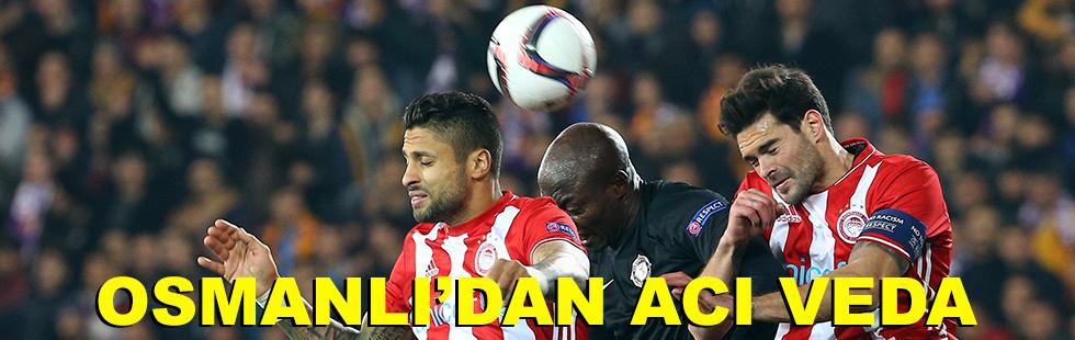 Osmanlı'dan acı veda: 0 - 3
