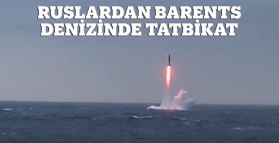 Ruslardan Barents Denizi'nde tatbikat