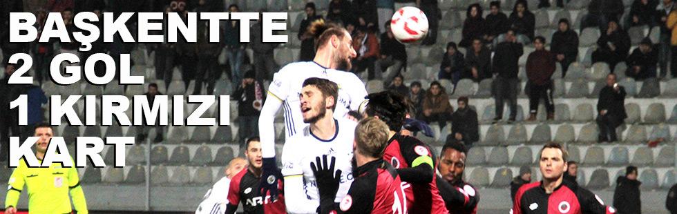 Başkentte 4 gol, 1 kırmızı kart:…