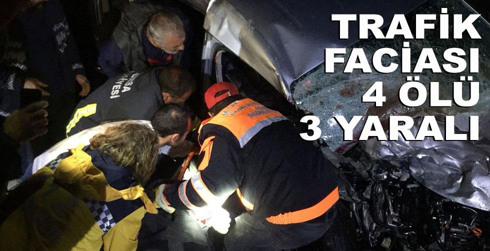 Trafik faciası!.. 4 ölü, 3 yaralı!..