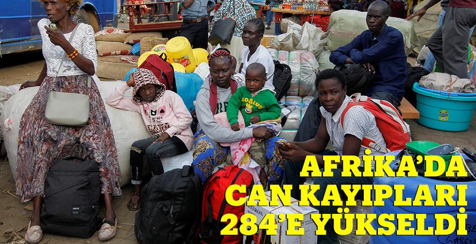 Afrika'da can kayıpları 284'e…