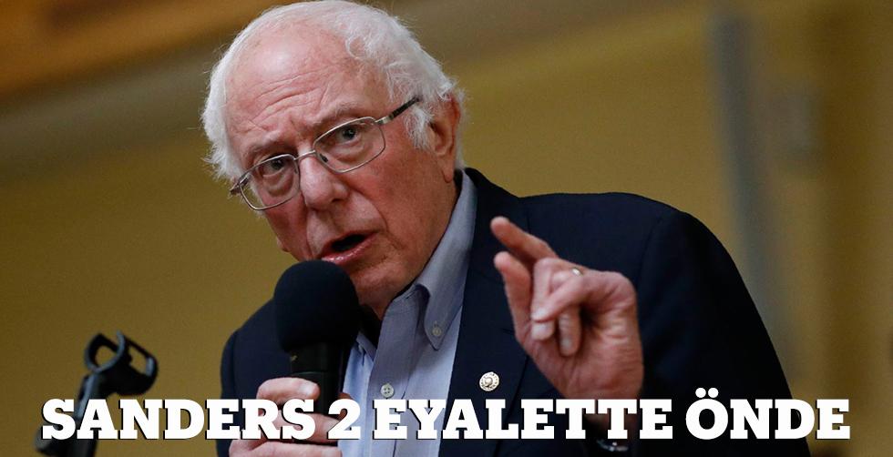 Sanders 2 eyalette önde