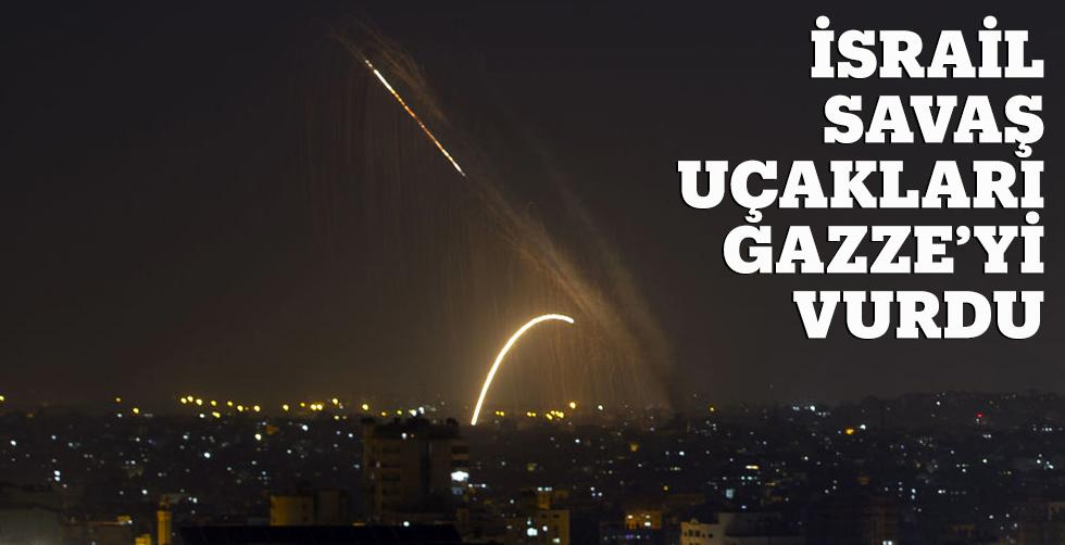 İsrail savaş uçakları Gazze'yi…