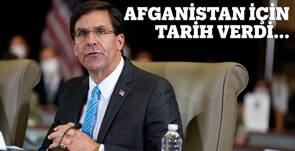 Esper Afganistan için tarih verdi