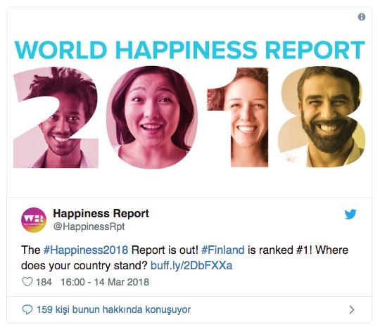 2019 Mutluluk Raporu açıklandı: Türkiye 5 basamak geriledi